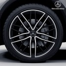 "Genuine 21"" Amg Front & Rear Cross-spoke Wheel Rim Black For Mercedes Benz Glc Class X253 C253 (8.5j X 21 Et 40) (9.5J x 21 ET 22)"