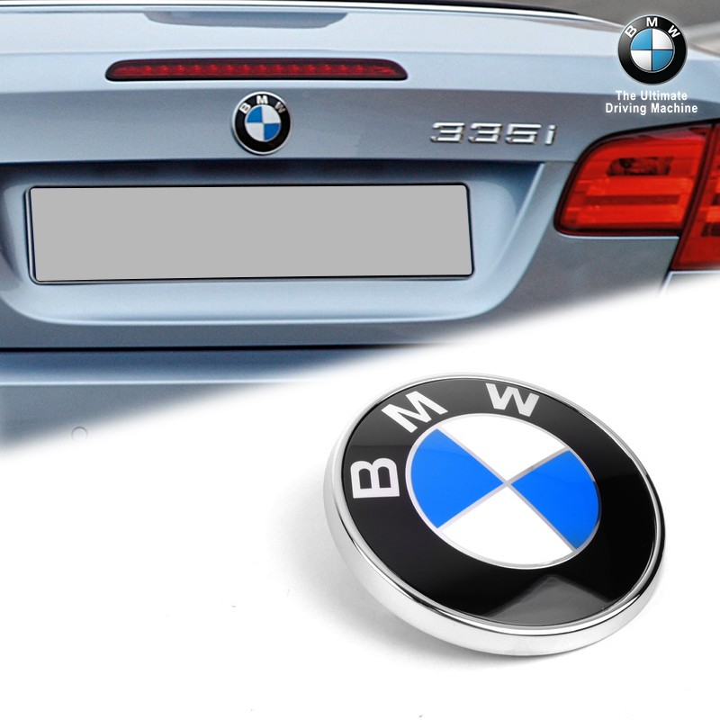 Genuine OEM BMW 73mm Rear Roundel Emblem For E93 HK