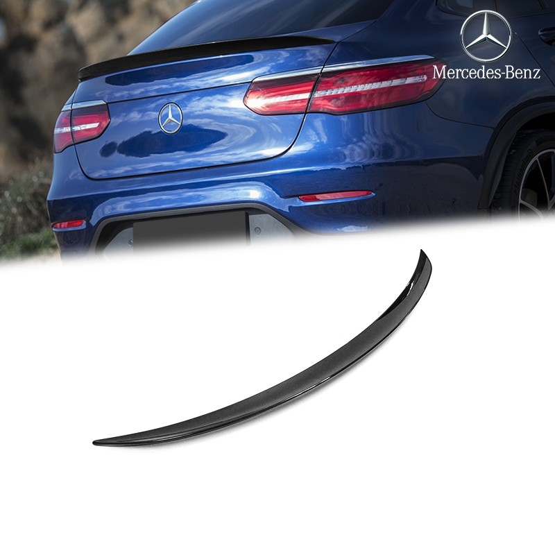 3d Model Mercedes Benz Glc Class C253 Coupe Amg Line 2016: Genuine OEM Black Rear Spoiler GLC 43 AMG Style For